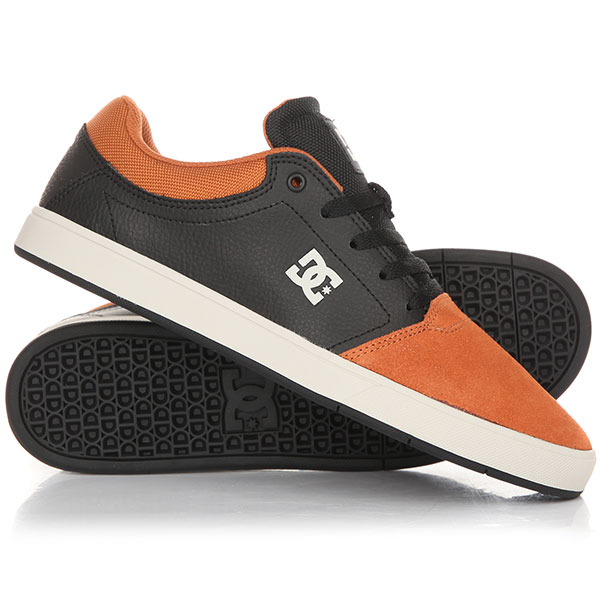 Кеды кроссовки низкие DC Crisis Se Black/Brown/Black dc shoes кеды dc council se navy camel 8