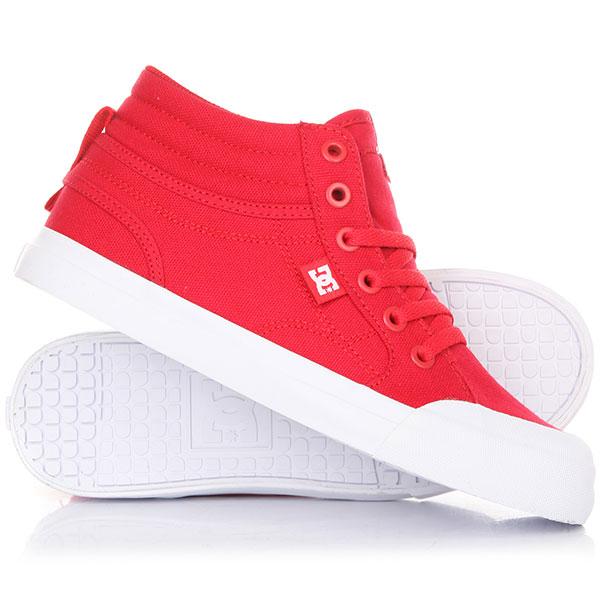 Кеды кроссовки высокие детские DC Evan Hi Tx Red кеды кроссовки высокие женские dc evan hi raspberry
