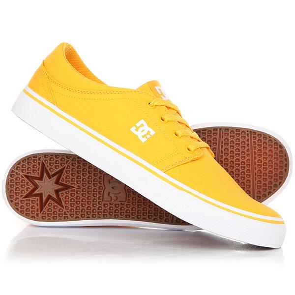 Кеды кроссовки низкие DC Trase Tx Yellow/Gold кеды dc shoes кеды council tx m shoe