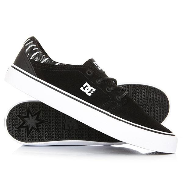 Кеды кроссовки низкие DC Trase Se Black/White/Black кеды кроссовки низкие dc council sd black military