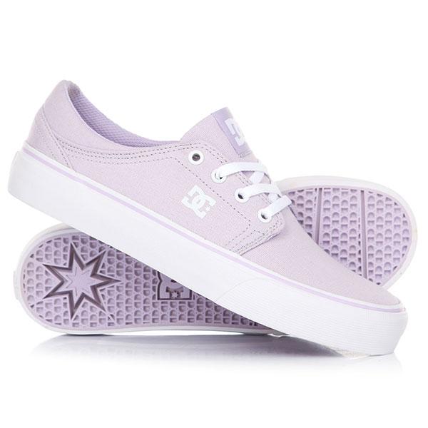 Кеды кроссовки низкие женские DC Trase Tx Lilac кеды кроссовки высокие dc council mid tx stone camo