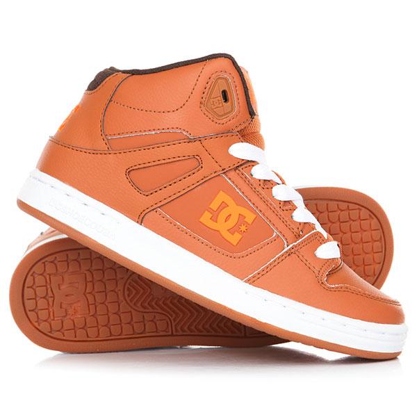 Кеды кроссовки высокие детские DC Pure High-Top Brown кеды кроссовки низкие детские dc pure v ii black multi