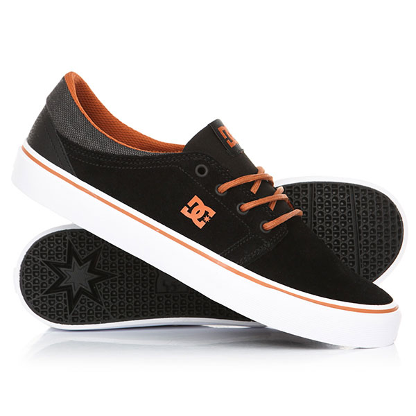 Кеды кроссовки низкие DC Trase Se Black/Camel dc shoes кеды dc council se navy camel 8