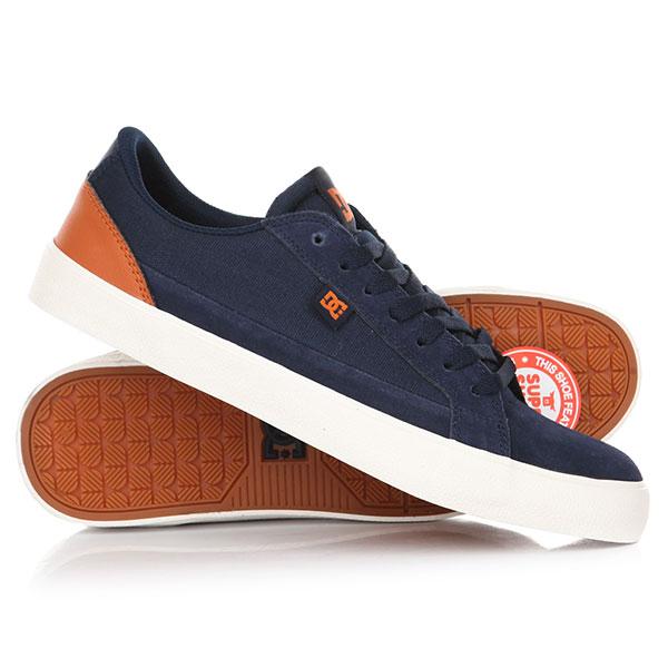 Кеды кроссовки низкие DC Lynnfield S Navy/Dk Chocolate dc shoes кеды dc heathrow se 11