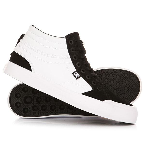 Кеды кроссовки высокие DC Evan Smith Hi White/Black кеды кроссовки высокие dc council mid black armor white