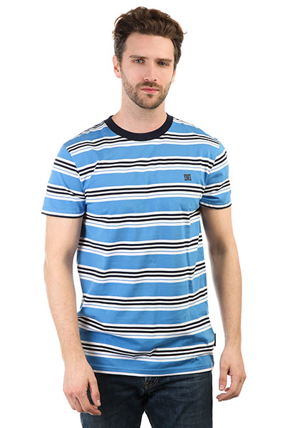 Футболка DC Buchanan Campunula<br><br>Цвет: голубой<br>Тип: Футболка<br>Возраст: Взрослый<br>Пол: Мужской