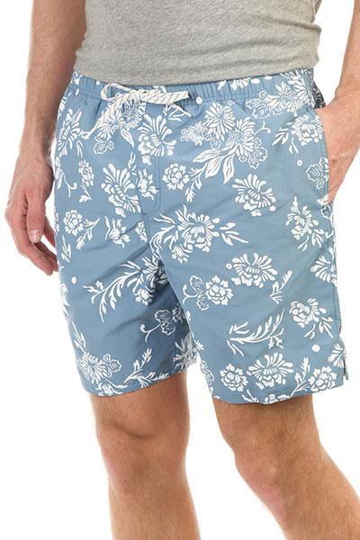 Шорты пляжные Quiksilver Omfloralvoll Blue Shadow куртка selected 16060737 shadow