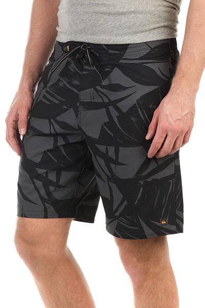 Шорты пляжные Quiksilver Wakepalmbs Black<br><br>Цвет: черный<br>Тип: Шорты пляжные<br>Возраст: Взрослый<br>Пол: Мужской