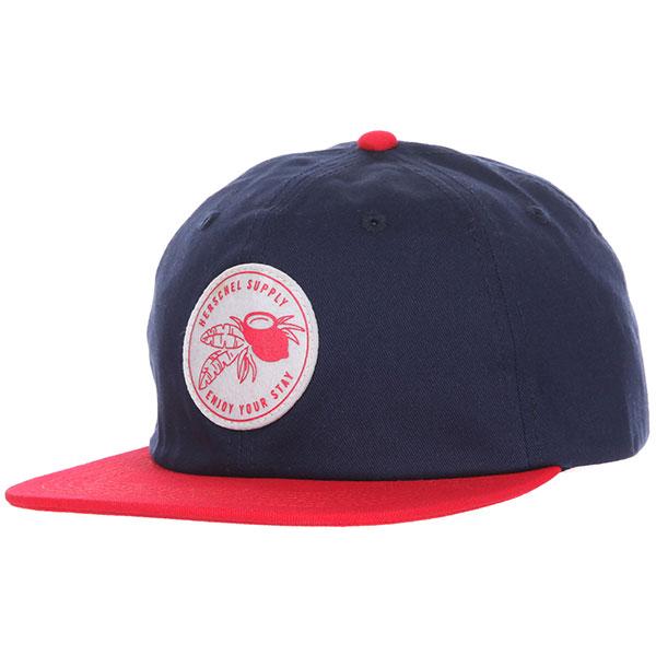 Кепка детская Herschel Outfield Youth Hawaiian Navy/Red