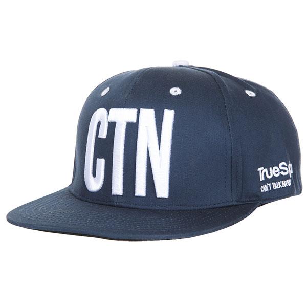 Бейсболка с прямым козырьком TrueSpin Shorty Ctn Blue