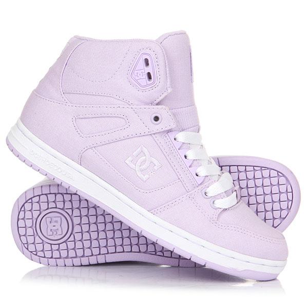 Кеды кроссовки высокие женские DC Pure Ht Tx Lilac кеды кроссовки высокие женские dc rebound high tx navy gum