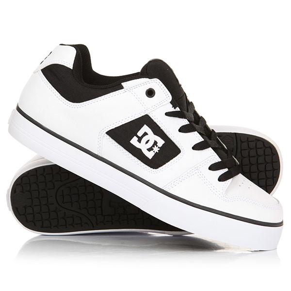 Кеды кроссовки низкие женские DC Pure White/Black/White кеды кроссовки низкие dc council sd black military
