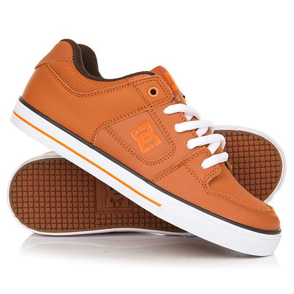 Кеды кроссовки низкие детские DC Pure Brown кеды кроссовки низкие dc studio brown
