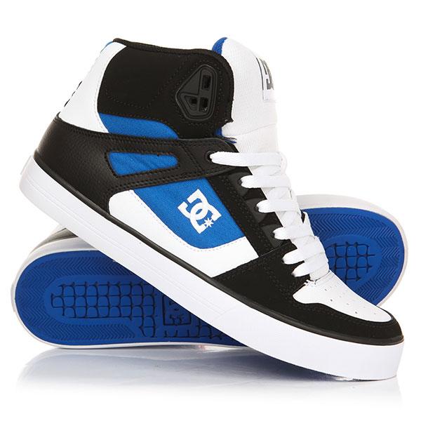 Кеды кроссовки высокие DC Pure Ht Wc White/Blue/Black dc shoes кеды dc heathrow se 11