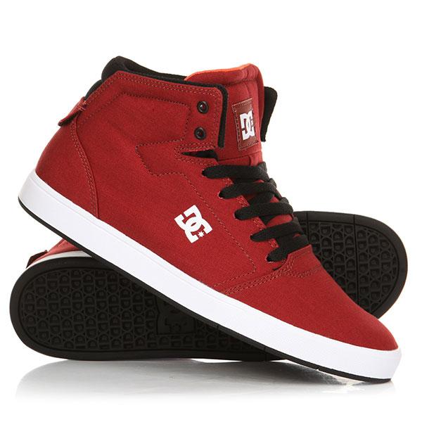 Кеды кроссовки высокие DC Crisis High Tx Dark Red кеды кроссовки высокие женские dc rebound high tx navy gum