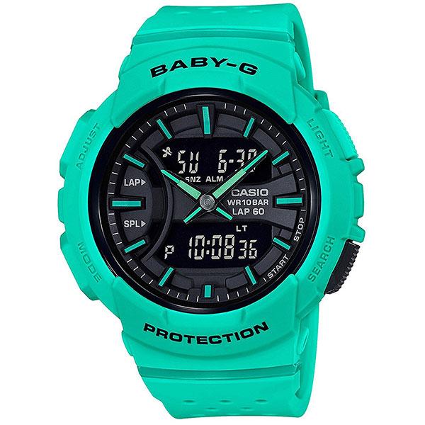 Кварцевые часы женские Casio G-Shock Baby-g bga-240-3a WhiteЧасы для любителей бега, а если ежедневные пробежки - это не про вас, все в порядке, ведь перед вами полноценная fashion модель, которая украсит любое запястье и станет яркой частью уличной моды любого мегаполиса.Характеристики:Противоударный корпусзащищает механизм от ударов и вибрации. Циферблат подсвечивается светодиодом, функция автоподсветки освещает циферблат при повороте часов к лицу. Светонакопительное покрытие необрит продолжает светиться в темноте даже после непродолжительного пребывания на свету.Второй часовой пояс.12-ти и 24-х часовой форматвремени. Секундомер с двумя точностями показаний: 1/100с (до 1ч) и 1с (после 1ч) и временем измерения 100ч.Сплит-хронограф. Память на 60 этапов - измеренное общее время, прошедшее с начала тренировки или гонки, и промежуточное время можно сохранить с указанием даты и отобразить эти данные позже.Таймеробратного отсчета от 1мин до 24ч с автоповтором. Функция включения/отключения звука.<br><br>Цвет: Светло-зеленый<br>Тип: Кварцевые часы<br>Возраст: Взрослый<br>Пол: Женский