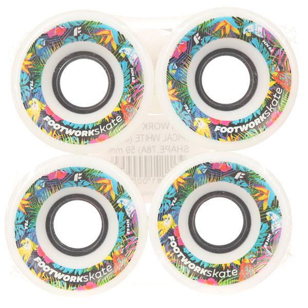 Колеса для скейтборда для лонгборда Footwork Tropical White 78A 59 mmДиаметр: 59 mm    Жесткость: 78A    Цена указана за комплект из 4-х колес<br><br>Цвет: белый<br>Тип: Колеса для лонгборда<br>Возраст: Взрослый<br>Пол: Мужской