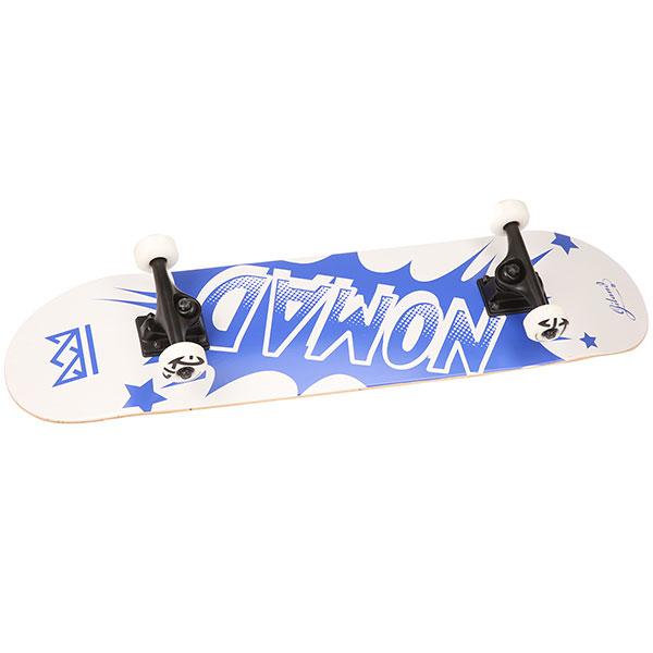 Скейтборд в сборе Nomad Banger Complete Medium Blue 31.75 x 8 (20.3 см)<br><br>Цвет: синий<br>Тип: Скейтборд в сборе<br>Возраст: Взрослый<br>Пол: Мужской