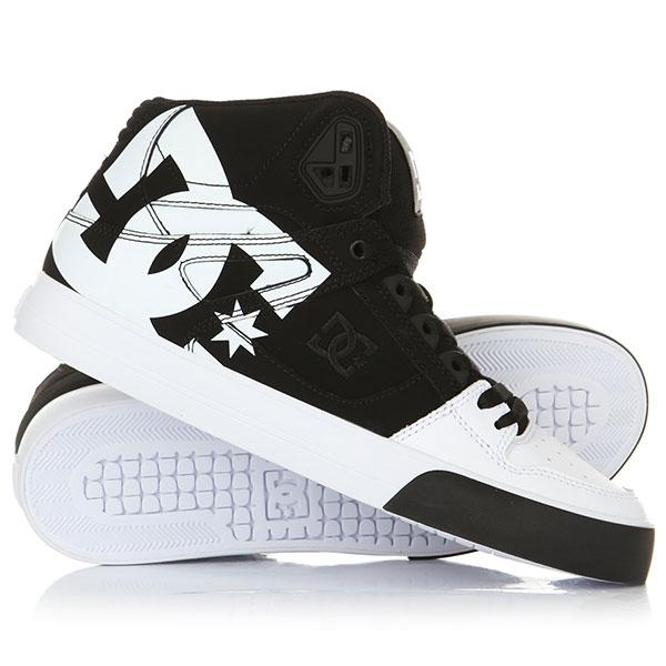 Кроссовки DC Pure High-top Wc Sp Black/White<br><br>Цвет: черный,белый<br>Тип: Кроссовки<br>Возраст: Взрослый<br>Пол: Мужской