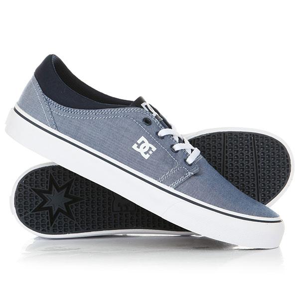 Кеды кроссовки DC Trase TX SE Blue/White<br><br>Цвет: голубой<br>Тип: Кеды<br>Возраст: Взрослый<br>Пол: Мужской