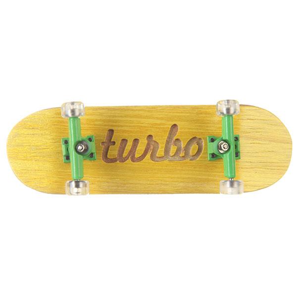 Фингерборд Turbo-FB П10 Гравировка Yellow/Green/Clear<br><br>Цвет: желтый<br>Тип: Фингерборд<br>Возраст: Взрослый<br>Пол: Мужской