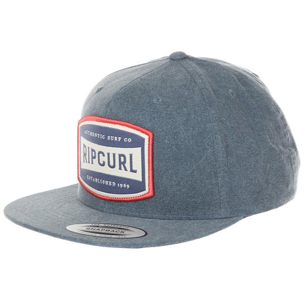 Бейсболка с прямым козырьком Rip Curl Authentic Snapback Cap Blue Indigo