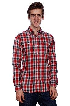Рубашка в клетку Huf Poplin Shadow Plaid Woven Red
