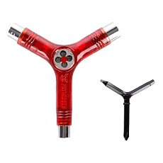 Ключ для скейтборда Pig Tool Clear Red