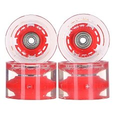 ������ ��� ��������� � ������������ Sunset Long Board Wheel With Abec9 Red 78A 65 mm