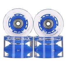 ������ ��� ��������� � ������������ Sunset Conical Longboard Wheel Set With Abec9 Blue 78A 65 mm