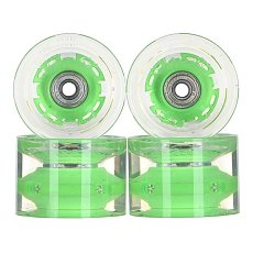 ������ ��� ��������� � ������������ Sunset Conical Longboard Wheel Set With Abec9 Green 78A 65 mm