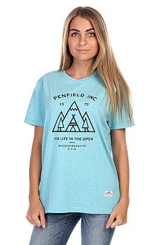 Футболка женская Penfield Teepee T-Shirt Sea Blue Melange