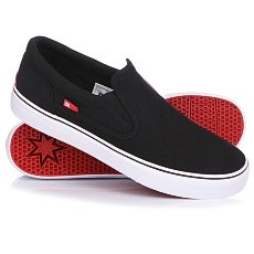 Слипоны DC Trase Slip-On TX Shoe Black/White
