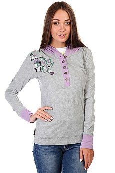 Джемпер женский Zoo York School Daze Henley Heather Grey