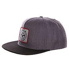 Бейсболка с прямым козырьком Circa Rtd Snap Back Charcoal/Black