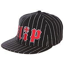 Бейсболка с прямым козырьком Flip Pinstriped Stretch Black