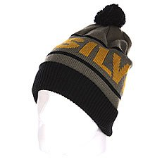 Шапка с помпоном Quiksilver Fots Summit Beanie Black