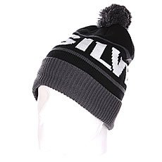 Шапка с помпоном Quiksilver Fots Summit Beanie Iron Gate