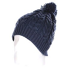 Шапка с помпоном Quiksilver Planter Beanie Dark Denim