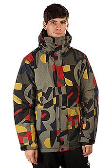 Куртка Quiksilver Mission Print Randomqk Brown