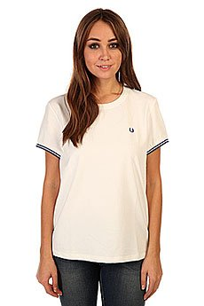 �������� ������� Fred Perry Pique T Shirt Snow White