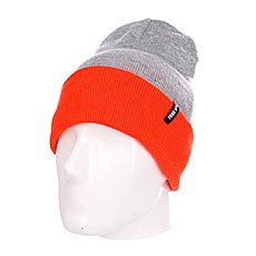 Шапка TrueSpin Neon 2 Tone Roll Up Heather Grey Orange