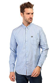 ������� Fred Perry End On End Shirt Light Blue
