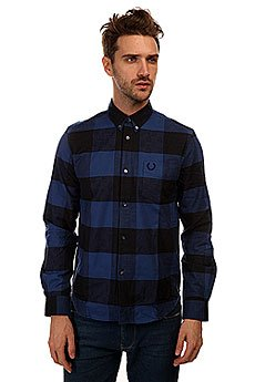 ������� � ������ Fred Perry Check Shirt Blue/Black