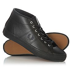 ���� ������� ������� Fred Perry Haydon Mid Leather Black
