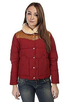 ������� ������� Penfield Rockwool Leather Yoke Down Jacket Red