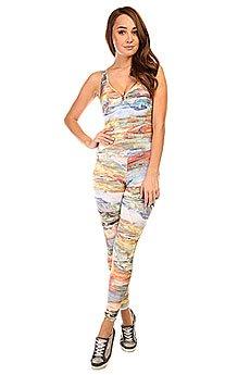Комбинезон для фитнеса женский CajuBrasil Supplex Overall Multi/Stripes