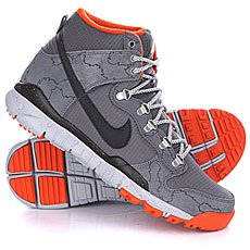 ��������� Nike Dunk High R/R Dark Grey/Black/Wolf Grey/Univ Orange