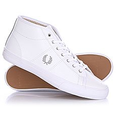 ���� ���������� ������� Fred Perry Haydon Mid Leather White