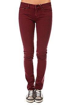 Джинсы узкие женские Insight Beanpole Skinny Plain Colours Wino Red